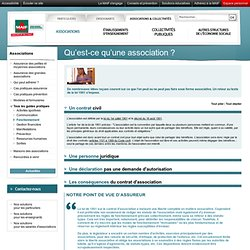 Qu'est-ce qu'une association ?