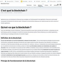 Qu'est-ce que la blockchain ? – Blockchain France