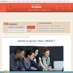Qu'est-ce qu'un «bon» MOOC?