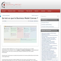 Qu'est-ce que le Business Model Canvas ?