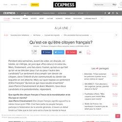 Qu'est-ce qu'être citoyen français?