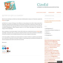 Qu'est-ce que le ClavEd? «