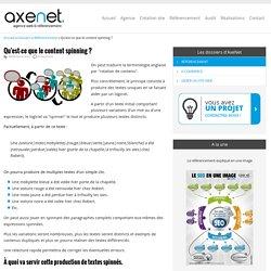 Qu'est-ce que le content spinning ? > AxeNet.fr