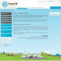 Qu'est-ce qu'une coopérative?