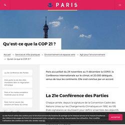 Qu'est-ce que la COP 21 ?