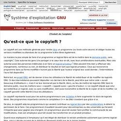 Qu'est-ce que le copyleft?