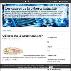 Qu'est ce que la cybercriminalité? - Les causes de la cybercriminalité
