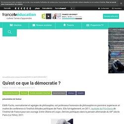 Qu'est ce que la démocratie?