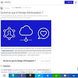 Qu'est-ce que le Design d'Anticipation ?