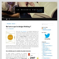 Qu'est-ce que le design thinking?
