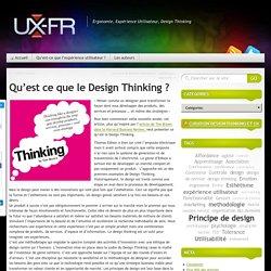 Qu'est ce que le Design Thinking ?