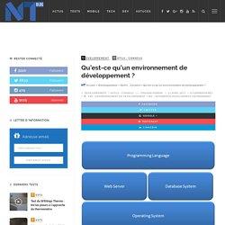 Qu'est-ce qu'un environnement de développement ?