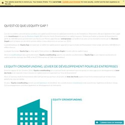 Qu'est-ce que l'Equity Gap ?
