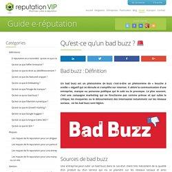 Qu'est-ce qu'un Bad Buzz ?
