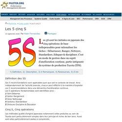 Qu'est-ce les 5 cinq S ?