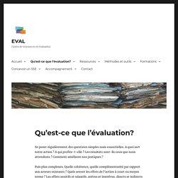 Qu'est-ce que l'évaluation? – EVAL