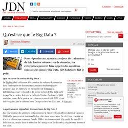 Qu'est-ce que le Big Data ?