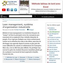 Qu'est-ce que le Lean Management ?