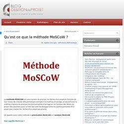 Qu'est ce que la méthode MoSCoW ?