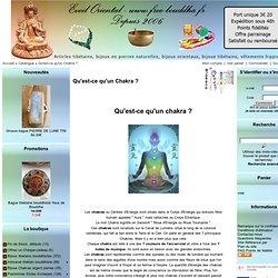 Qu'est-ce qu'un Chakra ? -