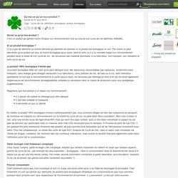 Qu'est-ce qu'un eco-produit ?