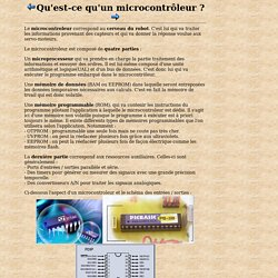 Qu'est-ce qu'un microcontrôleur ?