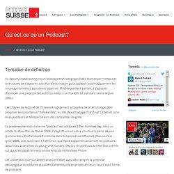 Qu'est-ce qu'un Podcast? – Podcast Suisse