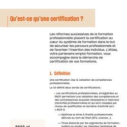 Qu'est-ce qu'une certification?