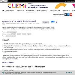 Qu'est-ce qu'un média d'information ?- CLEMI