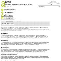 Qu'est-ce que l'OA ? – Open Access France