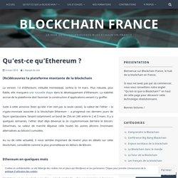Qu'est-ce qu'Ethereum ? – Blockchain France