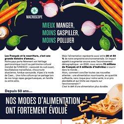 Manger mieux, moins gaspiller, moins polluer