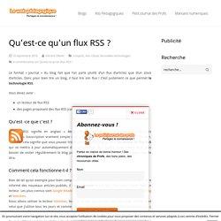 Qu'est-ce qu'un flux RSS ? - LeWebPédagogique