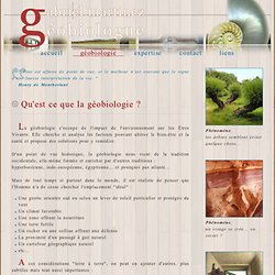 Qu'est ce que la géobiologie ?