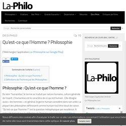 Qu'est-ce que l'Homme ? Philosophie