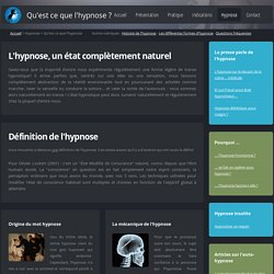 Qu'est ce que l'hypnose ?