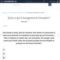 Qu'est ce que le management de l'innovation ?