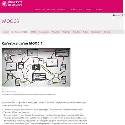 Qu'est-ce qu'un MOOC ? - MOOCs - UNIGE