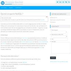 Qu'est ce que le NoSQL ?
