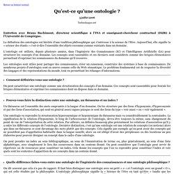 Qu'est-ce qu'une ontologie?