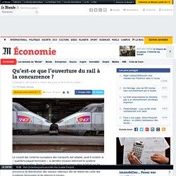 Qu'est-ce que l'ouverture du rail à la concurrence?