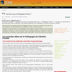 Qu'est-ce que la Pédagogie Freinet