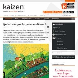 Qu'est-ce que la permaculture
