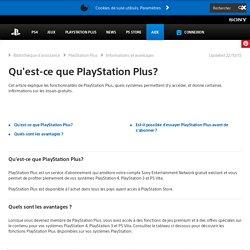Qu'est-ce que PlayStation Plus?