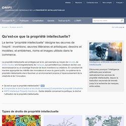 Qu'est-ce que la propriété intellectuelle?