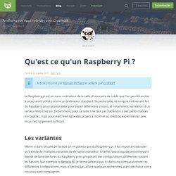 Qu'est ce qu'un Raspberry Pi ?