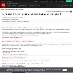 Qu'est-ce que la remise Multi-Packs de SFR ?
