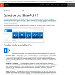 SHAREPOINT - Travail collaboratif (Ms Office)