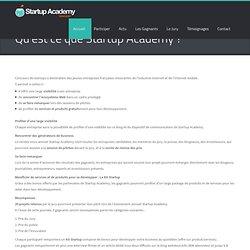 Qu'est ce que Startup Academy ?