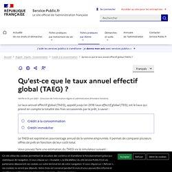 Qu'est-ce que le taux effectif global(TEG) ?